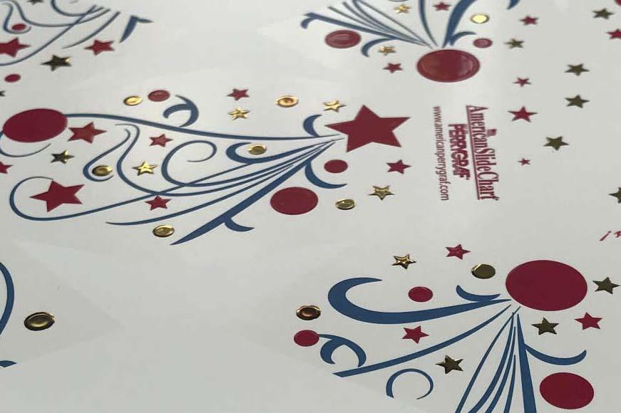 Detail of Skodix printing