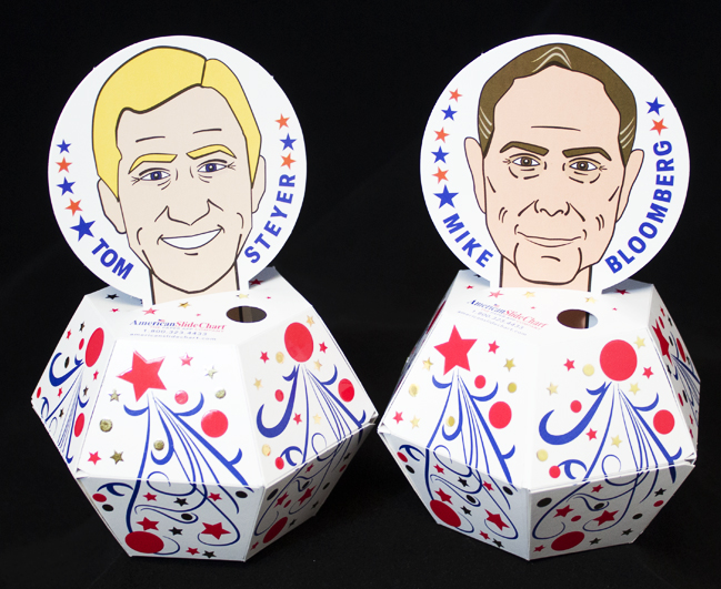 Steyer and Bloomberg Pop-Ups