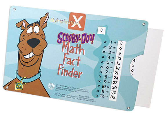 Scooby-Doo Math Multiplication Chart