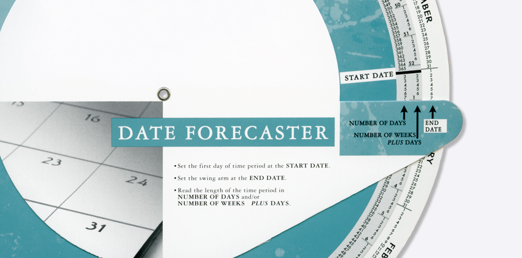 Date Forecaster Imprint Able Wheel