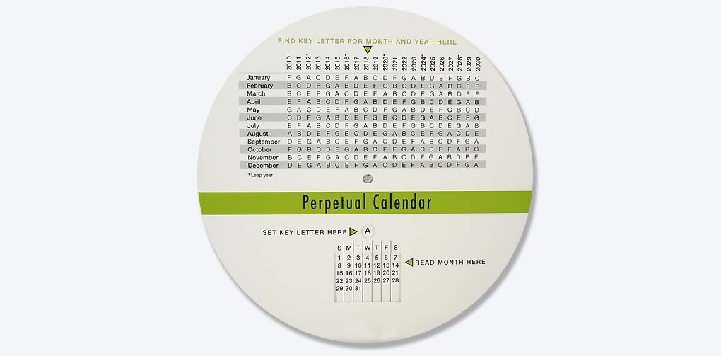 Imprint Able Scheduling Wheel