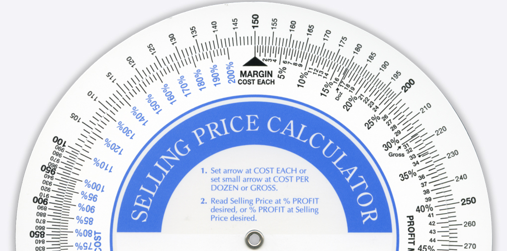 selling price calculator imprint able wheel