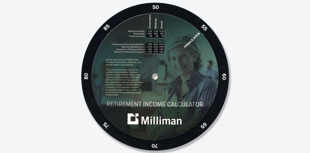 Financial | Industry Milliman – Retirement Income Calculator