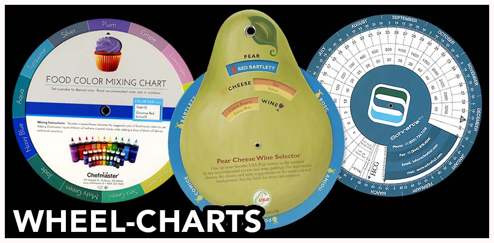 American slide chart prints mailers data wheel charts pop ups